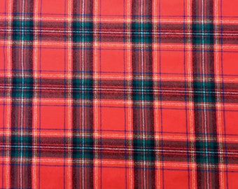 Pendleton Wool Plaid Fabric, By the Yard, Five Yards Available