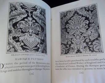 Vintage Fabric Book Damasks Patterns Story History Stroheim & Romann 5th Ave New York