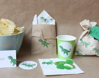 DINOSAUR Party pack, dinosaur party bags, dinosaur napkins, dinosaur party, dinosaur stickers, dinosaur favours
