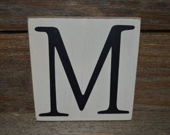 Initial Monogram Letter wood sign