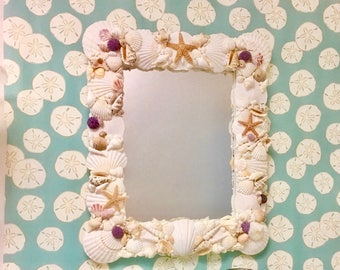 Seashell Mirror - Ready to Ship! beach decor/coastal/nautical/sea shell/seashells/sea shells/beach house