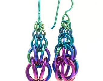 Sylvia Earrings in Summer Fade Niobium - Version II