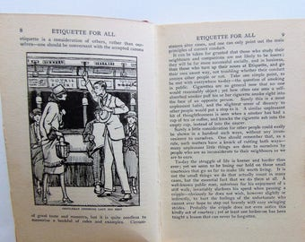 1925 Etiquette For All Man, Woman, Or Child
