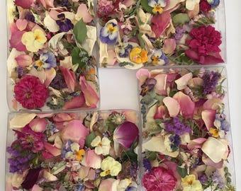 Dry Flower Confetti, Wedding Confetti, Dry Flowers, Real, Flower Girl, Petal Confetti, Aisle, Wedding Decorations, 20 Boxes of Confetti
