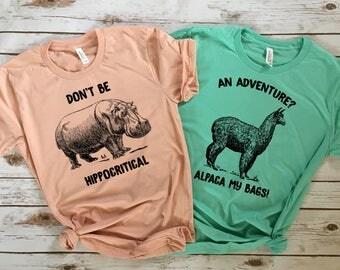 Don't Be HIPPOcritical - Funny Animal Pun Tees