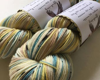 ASK eZine hp hippogriff hand dyed painted sock yarn