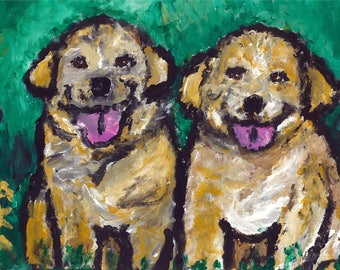Dog Variety Package of 5 blank Note Cards