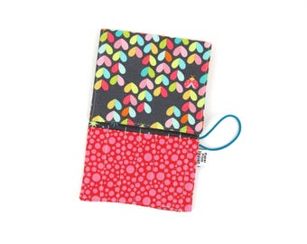 Mini Crochet Hook Case - Love Bug - crochet hook organizer crochet hook holder