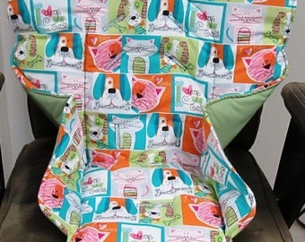 Chicco replacement cover, high chair pad, baby accessory, chair cushion, kids and baby, feeding chair, kids chair, custom, dogs and cats