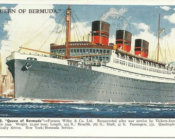 Queen Of Bermuda Etsy - Queen of bermuda cruise ship