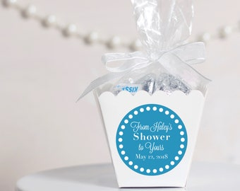 12 Baby Shower Boxes - Baby Shower Favors - Custom Shower Favors - Personalized Shower Favors - White Favor Boxes - From My Shower to Yours