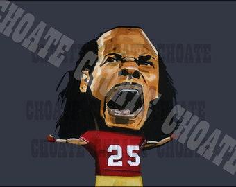 Richard Sherman, San Francisco 49ers. Art Photo Print