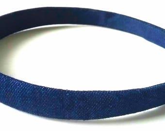 Blue Jean Denim Headband 1/2 Inch