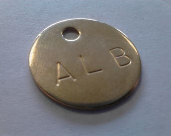 50 - Personalized Solid Brass Tags - One Inch