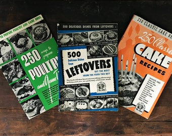Vintage Cooking Guides, Recipe Catalogues, Retro Recipe Set, Leftovers, Cake Recipes, Chicken Recipes, Dessert, Baking