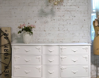 Painted Cottage Chic Shabby French Dresser DR910