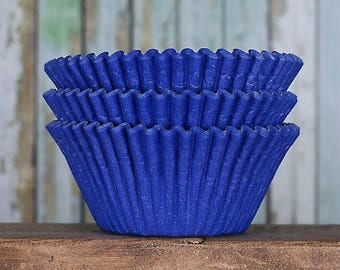Jumbo Royal Blue Cupcake Liners, Texas Size Muffin Cups, Jumbo Cupcake Liners, Jumbo Muffin Liners, Jumbo Baking Cups, Muffin Cases (50)