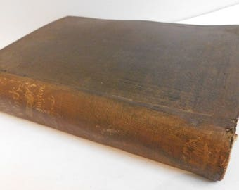 1859 Antique Book Knitting Work A Web of Many Textures B.P. Shillaber American Humorist Short Story Wit Satire Book Illustrated by Hoppin