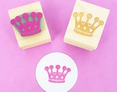 Crown Stamp - Little Crown Rubber Stamp - Princess Rubber Stamp - Gift for Girls - Princess Gift - Fancy Dress - Tiara - Queen Mom Mum gift