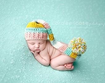 NEW ITEM! Elf Hat in Pink, Mint, & Mustard