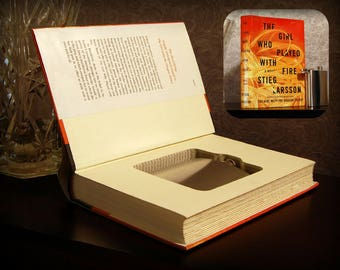 Hollow Book Safe with Flask (The Girl Who Played with Fire)