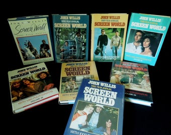 Hollywood Films - Literary Gift - Vintage Books Eight Screen World Books John Willis - Movies By Year Reference