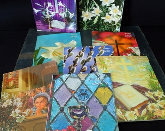 Ideal Magazine Easter Publications - Vintage Religious Books - Easter Decor - Art for Repurpose Crafts