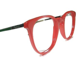 Vintage HornRim Red Cateye Eyeglasses Eyewear Frame France