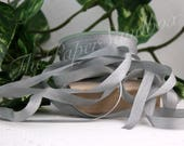 """Gray Silk Ribbon, 1/4"""" wide by the yard, Grey Silk, Weddings, Boutonniere Ribbon, Bridal Bouquets, Gift Wrapping, Sewing, Floral Arranging"""