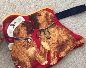 Holiday Dog Christmas Puppy Clutch Zipper Coun Purses with Strap