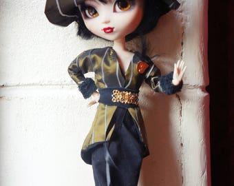 pullip doll bjd year 30 Black Lace historical costume