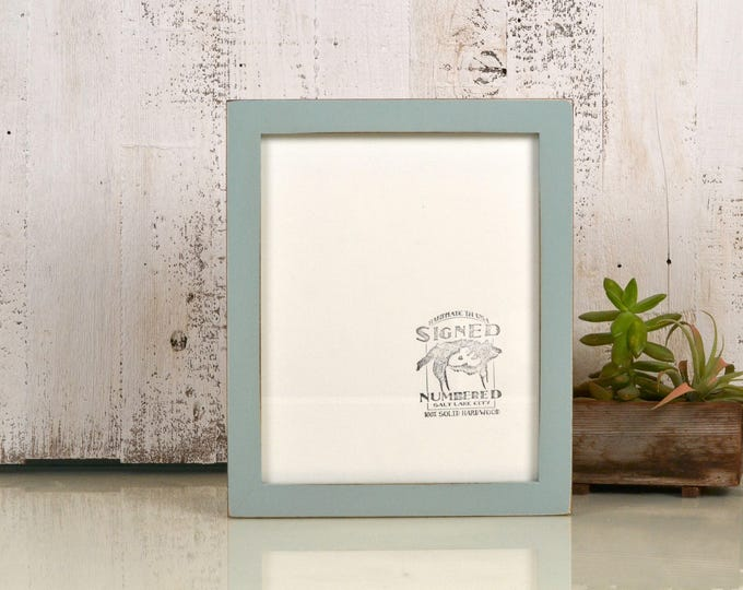 8x10 Picture Frame in 1x1 Flat Style with Vintage Homstead Green Finish - IN STOCK - Same Day Shipping - Rustic Solid Wood Frame 8 x 10