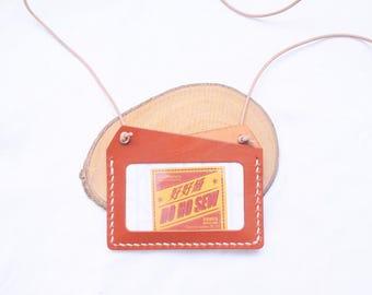 Ho-Ho-Sew Genuine Leather Horizontal Badge ID Card Holder Card Case DIY Kit