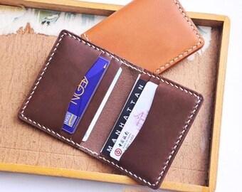 Ho-Ho-Sew Genuine Leather Bi-fold 6 Slots Card Case Card Holder Card Wallet DIY Kit