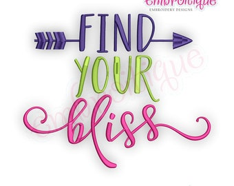 Find Your Bliss -Instant Download Machine Embroidery Design