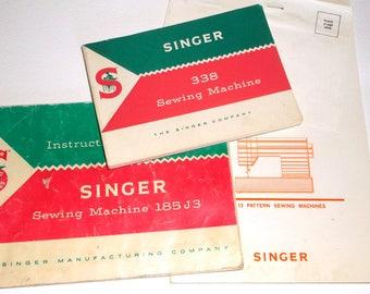 Vintage SINGER Sewing Machine INSTRUCTION Booklet • 10 & 13 Pattern
