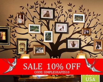 Summer Sale - Wall Decals Living room Wall Decals Bedroom Family Tree Decal - Family Tree Wall Decal - Family Room decal - tree decal