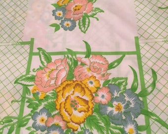 Vintage Like New Top Twin Bed Sheet