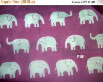 last call Japanese Daiwabo Nylon Fabric - Elephants on Purple - 1 and 3/4 yds remain