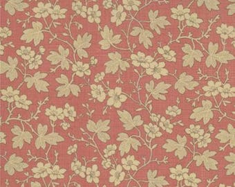 French General Floral Cornouille Red