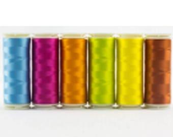 Wonderfil Invisafil 100 wt Polyester Thread Set B007 - Six 400m Spools