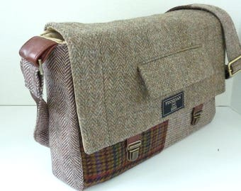 "Laptop bag, 13"" Macbook pro Messenger bag Macbook,Laptop Sleeve, Vintage, Wool, Trunk Latch,Recycled Suit Coat, Ready to Ship."