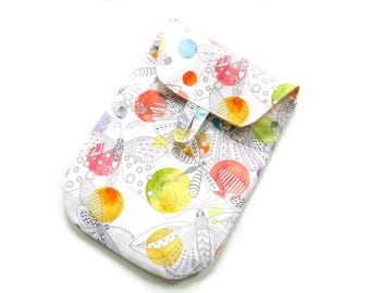 Diaper pouch, diaper bag, foldover clutch, nappy bag, diaper clutch, butterflies, diaper case fold over bag, diaper holder, baby gift