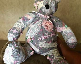 Crazy lace teddy bear art bear Destiny Estelle