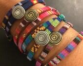 Ehtnic woven cotton wrap bracelets - friendship bracelets