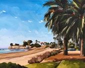 Santa Barbara Oil Painting -  9x12 - Ledbetter Beach by Sharon Schock
