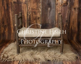 Wooden Branch Bed Newborn Digital Photography Simple Wood Backdrop