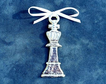 Pewter Chess Ornament