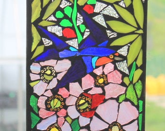Swift/Swallow   Stained Glass SunCatcher or wall Decoration