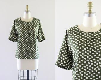 olive boxy blouse